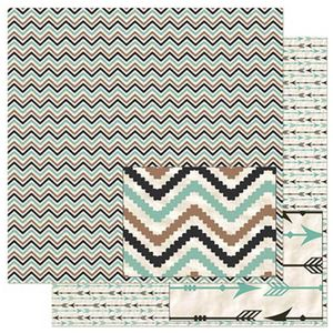 Papel-Scrapbook-Litoarte-305x305cm-SD-900-Chevron-Marrom-e-Verde