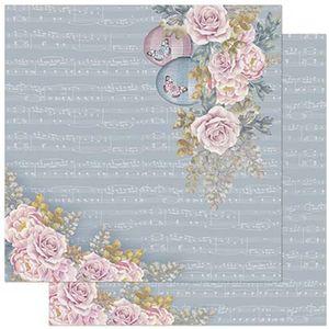 Papel-Scrapbook-Litoarte-305x305cm-SD-904-Rosas-e-Borboletas
