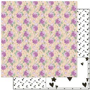Papel-Scrapbook-Litoarte-305x305cm-SD-907-Planner-Rosas-e-Flores