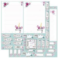 Papel-Scrapbook-Litoarte-305x305cm-SD-910-Planner-Unicornio-Pagina