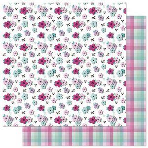 Papel-Scrapbook-Litoarte-305x305cm-SD-911-Planner-Flores