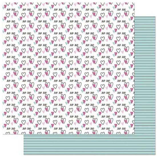 Papel-Scrapbook-Litoarte-305x305cm-SD-912-Planner-Coracao-Xoxo