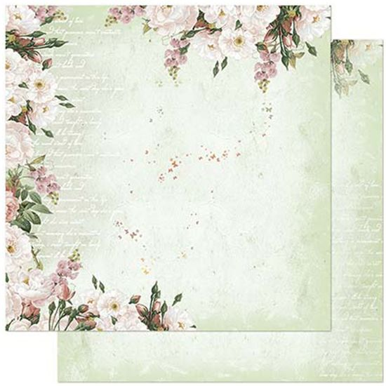 Papel-Scrapbook-Litoarte-305x305cm-SD-917-Flores-Fundo-Verde