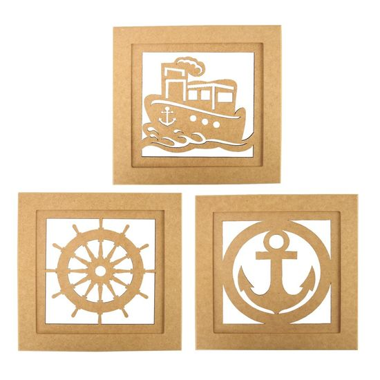 Trio-de-Quadros-Decorativo-em-MDF-Marinheiro-30x30cm---Palacio-da-Arte