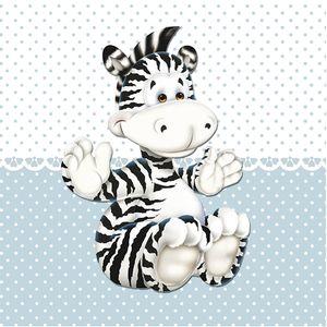 Placa-Decorativa-Infantil-com-Aplique-em-MDF-Litocart-LPQI-018A-20X20cm-Zebra-com-Fundo-Azul