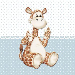 Placa-Decorativa-Infantil-com-Aplique-em-MDF-Litocart-LPQI-020A-20X20cm-Girafa-com-Fundo-Azul