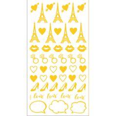 Adesivo-Mini-Foil-Metalizado-Toke-e-Crie-AD1925-Acessorios-Feminino-Dourado