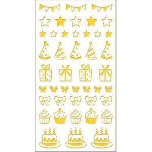 Adesivo-Mini-Foil-Metalizado-Toke-e-Crie-AD1926-Festa-Dourado