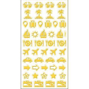 Adesivo-Mini-Foil-Metalizado-Toke-e-Crie-AD1930-Viagem-Dourado