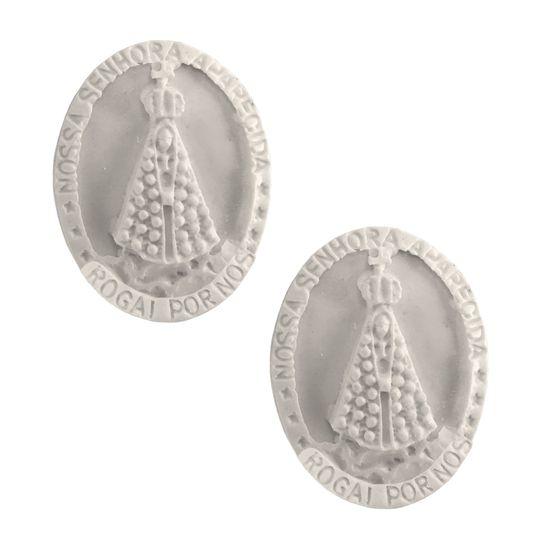 Aplique-Medalha-Nossa-Senhora-Aparecida-37x29cm-com-2pcs---Resina