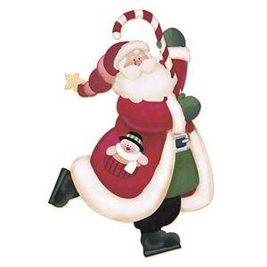 Aplique-Decoupage-Natal-Litoarte-APMN20-001-em-Papel-e-MDF-20cm-Papai-Noel-Patinando