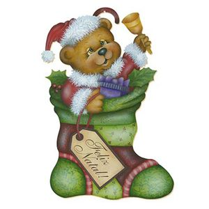 Aplique-Decoupage-Natal-Litoarte-APMN20-003-em-Papel-e-MDF-20cm-Urso-na-Bota