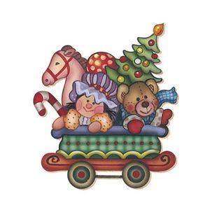 Aplique-Decoupage-Natal-Litoarte-APMN20-005-em-Papel-e-MDF-20cm-Carrinho-Ursinho