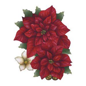 Aplique-Decoupage-Natal-Litoarte-APMN20-014-em-Papel-e-MDF-20cm-Poinsetias-com-Flor-Branca