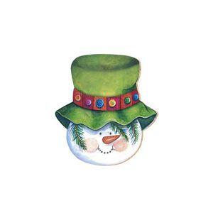 Aplique-Decoupage-Natal-Litoarte-APMN8-041-em-Papel-e-MDF-8cm-Boneco-Chapeu-Verde
