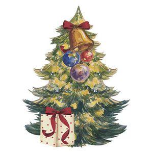 Aplique-Decoupage-Natal-Litoarte-APMN8-088-em-Papel-e-MDF-8cm-Pinheirinho-de-Natal-com-Sino