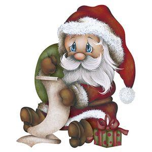 Aplique-Decoupage-Natal-Litoarte-APMN8-093-em-Papel-e-MDF-8cm-Papai-Noel-Sentado