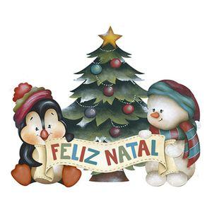 Aplique-Decoupage-Natal-Litoarte-APMN8-094-em-Papel-e-MDF-8cm-Pinguim-e-Pinheiro-de-Natal