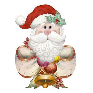 Aplique-Decoupage-Natal-Litoarte-APMN8-105-em-Papel-e-MDF-8cm-Papai-Noel-com-Laco