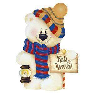 Aplique-Decoupage-Natal-Litoarte-APMN8-107-em-Papel-e-MDF-8cm-Urso-e-Placa