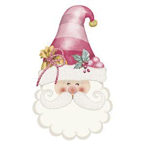 Aplique-Decoupage-Natal-Litoarte-APMN8-111-em-Papel-e-MDF-8cm-Rostinho-Papai-Noel