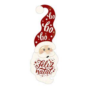 Aplique-Decoupage-Natal-Litoarte-APMN8-113-em-Papel-e-MDF-8cm-Papai-Noel-Touca-Vermelha