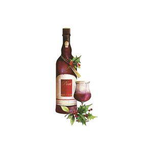 Aplique-Decoupage-Natal-Litoarte-APMN8-129-em-Papel-e-MDF-Garrafa-de-Vinho-e-Taca