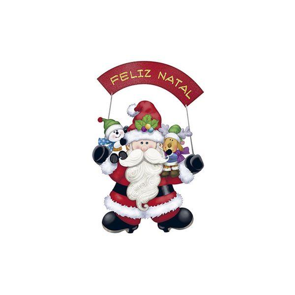 Aplique-Decoupage-Natal-Litoarte-APMN8-137-em-Papel-e-MDF-Papai-Noel