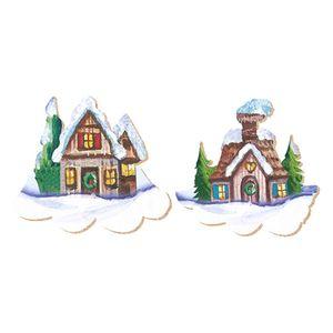 Aplique-Decoupage-Natal-Litoarte-APMN4-005-em-Papel-e-MDF-4cm-Casinhas