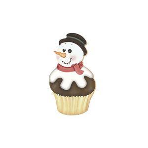 Aplique-Decoupage-Natal-Litoarte-APMN8-031-em-Papel-e-MDF-8cm-Boneco-Neve-Cupcake