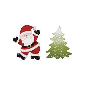 Aplique-Decoupage-Natal-Litoarte-APMN4-013-em-Papel-e-MDF-4cm-Papai-Noel-e-Pinheiro