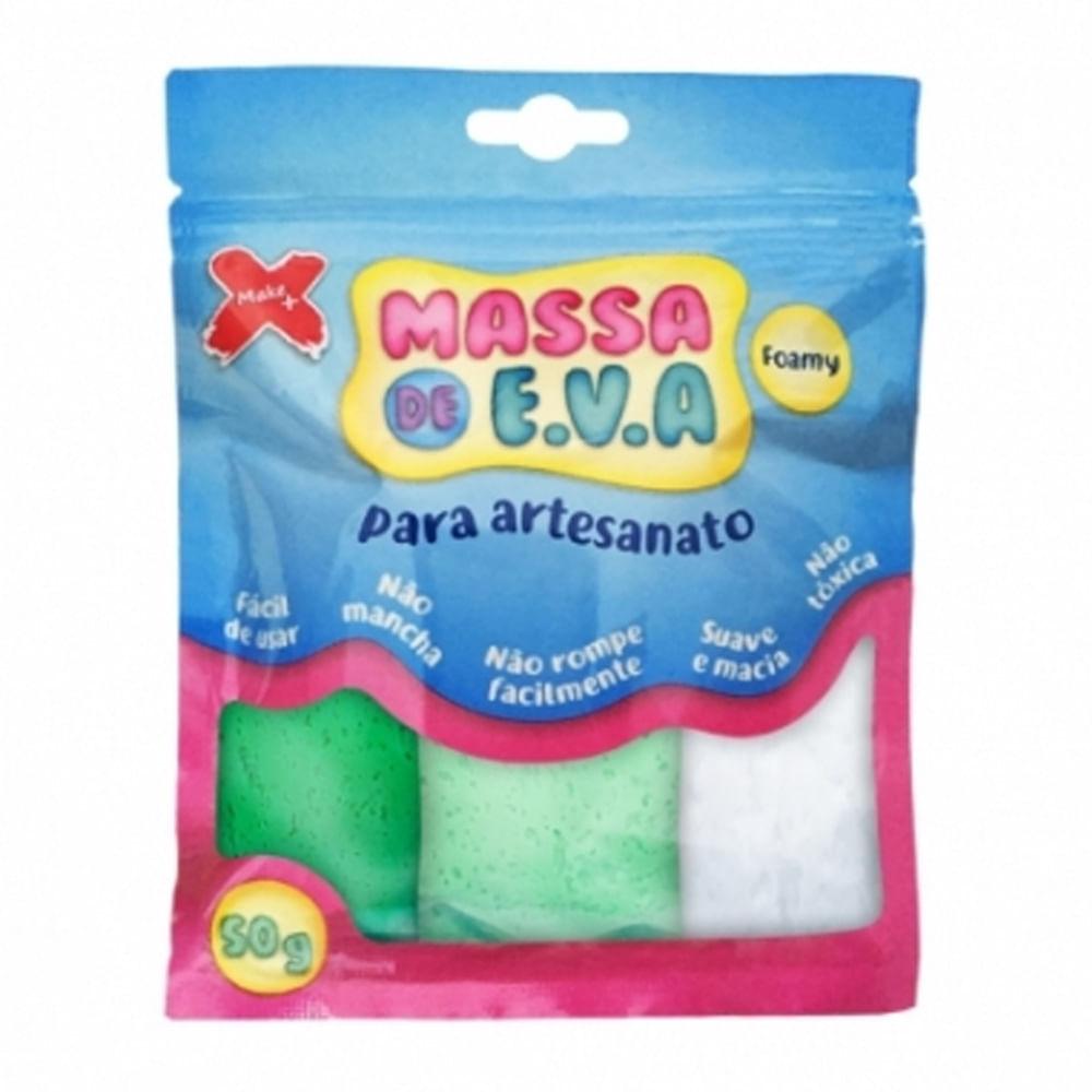 b155a1d5cd Kit Massa de E.V.A Foamy Make Mais para Artesanato 3 Cores 50g -  PalacioDaArte