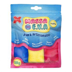 Kit-Massa-de-Modelar-E.V.A-Lisa-Foamy-Make-Mais-para-Artesanato-5-Cores-50g-Branco---Vermelho---Azul---Verde---Amarelo