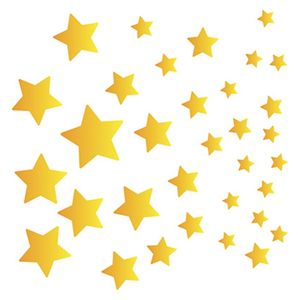 Stencil-Litoarte-Natal-9x9cm-Pintura-Simples-STX-355-Estrelas