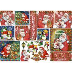Papel-Decoupage-Natal-Litoarte-PDN-127-343x49cm-Papai-Noel-Vintage-e-Pinguins