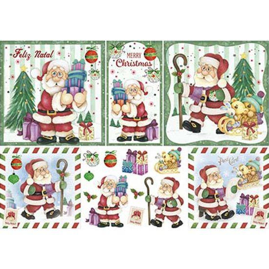 Papel-Decoupage-Natal-Litoarte-PDN-128-343x49cm-Papai-Noel-e-Bichinhos