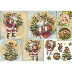 Papel-Decoupage-Natal-Litoarte-PDN-131-343x49cm-Papai-Noel-Vintage