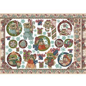 Papel-Decoupage-Natal-Litoarte-PDN-064-343x49cm-Ursos-com-Doces-e-Presentes