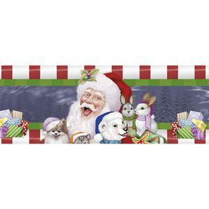 Barra-Adesiva-Litoarte-Natal-BDAN-IV-097-436x4cm-Papai-Noel-Animais-e-Presentes