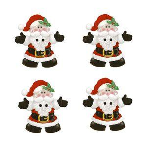 Botoes-em-Madeira-MDF-e-Papel-Natal-Litoarte-BMPN-021-Papai-Noel