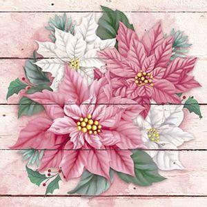 Papel-Decoupage-Adesiva-Litoarte-Natal-DANX-011-10x10cm-Poinsetias-Rosas-e-Brancas