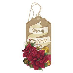 Placa-TAG-MDF-Decorativa-Natal-Litoarte-DHTN-004-155x82cm-Poinsetias-Feliz-Natal