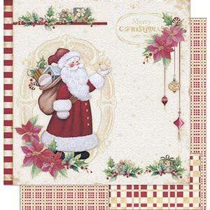 Papel-Scrapbook-Natal-Litoarte-305x305cm-SDN-036-Papai-Noel