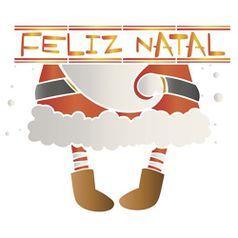 Stencil-Litoarte-Natal-25x20cm-Pintura-Simples-STRN-001-Corpo-Papai-Noel