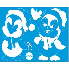 Stencil-Litoarte-Natal-25x20cm-Pintura-Simples-STRN-003-Pinguim