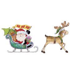 Aplique-Decoupage-Natal-Litoarte-APMN4-016-em-Papel-e-MDF-4cm-Papai-Noel-Treno-e-Rena