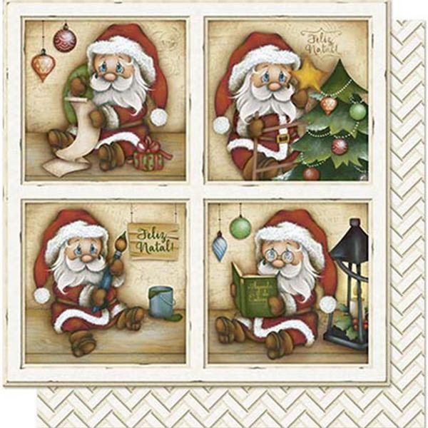 Papel-Scrapbook-Natal-Litoarte-305x305cm-SDN-084-Papai-Noel-Pequeno-em-Quadros