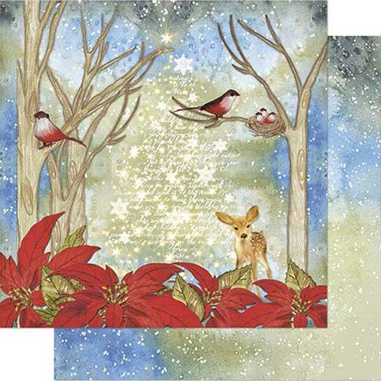-Papel-Scrapbook-Natal-Litoarte-305x305cm-SDN-094-Bambi-com-Poinsetia