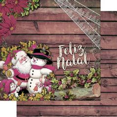 Papel-Scrapbook-Natal-Litoarte-305x305cm-SDN-102-Papai-Noel-Vintage