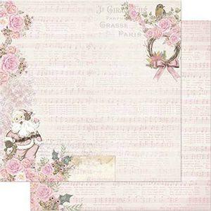 Papel-Scrapbook-Natal-Litoarte-305x305cm-SDN-110-Vintage-Rosa-Papai-Noel